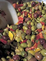 Olives from Tuscany Italy, much used in our cooking schools